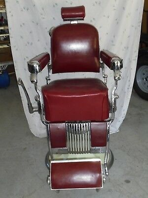Belmont Barber Chair >> Antique Vintage Belmont Takara Barber Chair