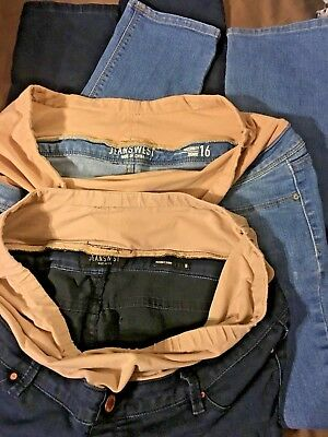 2 X JEANSWEST SLIM maternity jeans dark and light blue  size 16, great cond