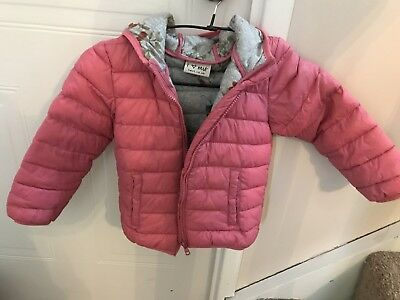 Next Pink Girls Coat Aged 2-3