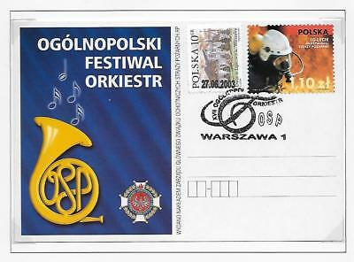 Poland Fire Fighting Music Festival Stationery Post Cards Plain Back (2)  2003
