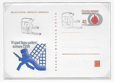 Czech Republic Fire Fighting Stationery Post Cards Plain Back (2)1983 & 1996