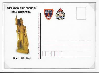 Poland Pictorial Fire Fighting Stationery Post Cards Plain Back (2) 2001 & 2003