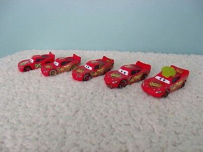 5 Disney Pixar Cars Lightning McQueen Diecast 1:55 Scale Car lot