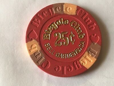 Bicycle Club .25 Cent Casino Chip