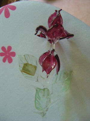 Fleur Orchidee En Cristal  De Baccarat Decoration Crystal