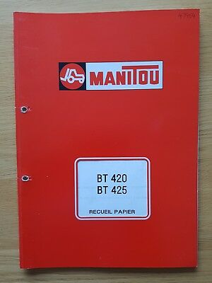 Manitou Bt420 Bt425 Forklift Parts Catalogue