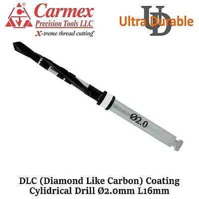 Carmex Dental Implant External Irrigation Surgical Drill DLC Coating Ø2.0