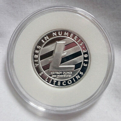 GENUINE Lealana 1/4oz Silver Physical Litecoin (5 LTC - Buyer Funded)