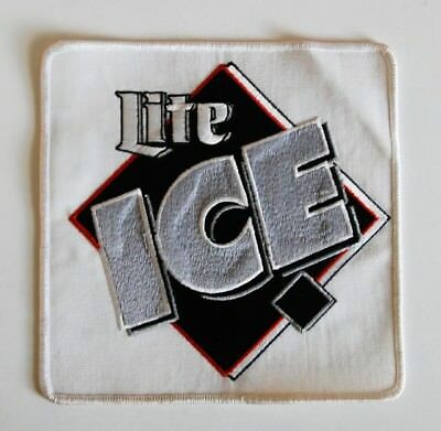"""Miller Brewing Lite Ice Beer Patch Large 7 1/8"""" x 7 1/8"""""""