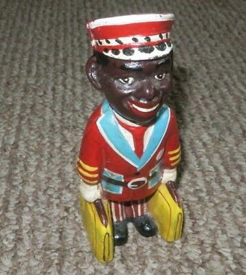 "Hand-Painted Cast Iron Bellhop / Porter Bank - 6"" - Black Americana"