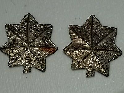 1930s WWII US Army Sterling Lt Colonel PB  Insignia Shoulder Size Matched Set