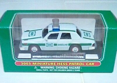 New Vintage 2003 Hess Miniature Patrol Car Police Die Cast Retired Free Shipping