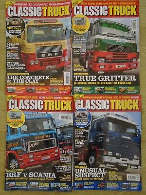 Classic Truck Magazines X 4 2017 2018 Erf, Foden, Scania 112
