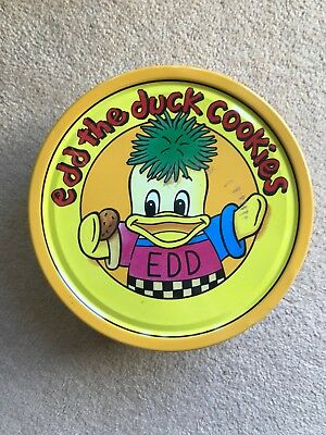 Rare Retro Ed the Duck Biscuit Tin