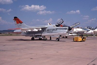 Usaf  A-7D 67-14583 Afsc Digitac Original Color Slide Kodachrome