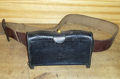 Original WWI Leather US Ammo Pouch With Belt