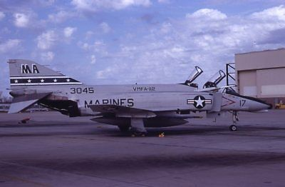 Usmc F-4N 153045 Vmfa-112  Original Color Slide Kodachrome