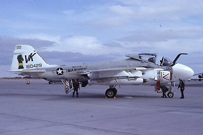 Usmc A-6E 160429 Vma-Aw 121 Original Color Slide Kodachrome