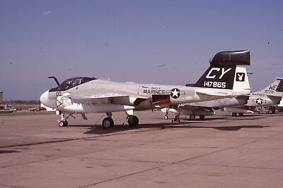 Usmc Ea-6A 147865 Vmaq-2 Original Color Slide Kodachrome