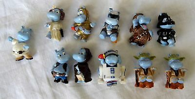 Ü Ei Figuren Happy Hippo Star Wars Hipperium Satz 2002 komplett 11 Figuren