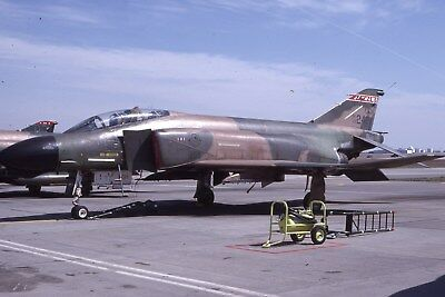 Usaf F-4D 66-0242 184 Tfg Original Color Slide Kodachrome
