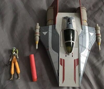 Star Wars Rebels Hera Syndulla A-wing Playset Action Figure Nerf Loose Has to