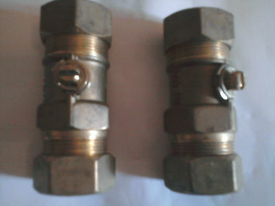NEVA BALL VALVES (QUALITY FITTINGS) - 22mm COMP FITTINGS - 6 OFF FOR SALE