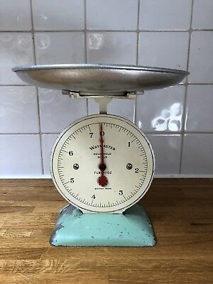 VINTAGE RETRO WAYMASTER HOUSEHOLD SCALES WITH TRAY 7Lbs BRITISH MADE
