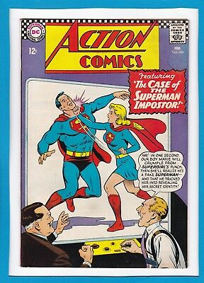 """Action Comics #346_February 1967_F/vf_Supergirl_""""the Superman Imposter""""!"""