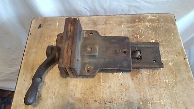 Antique Sheldon Quick Release Bench Vise Wood Working Vice Old Tools Pat 1900
