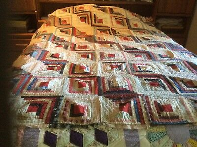 Antique Late 1800's Quilt top, Hand Stitched