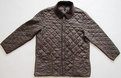 Barbour Liddesdale brown quilted insulated padded nylon jacket mens XL ?