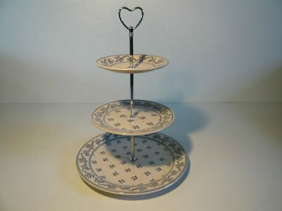 Gorgeous vintage 70s Laura Ashley Petite Fleur 3 or 2 tier Cake Stand cupcakes