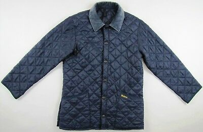 Barbour D349 Liddesdale navy blue quilted insulated padded nylon jacket mens XS