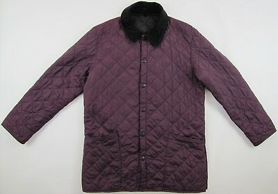 Barbour Liddesdale purple quilted insulated padded nylon jacket mens Medium M
