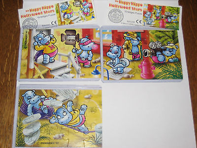 ***Happy Hippo Hollywood ***3 Puzzel***1997***mit 2 BPZ***