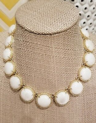 Kendra Scott Mother Of Pearl Adriana  Gold Collar Necklace Rare