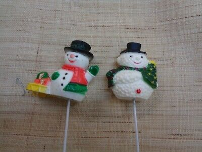 Set Of 36 Vintage   Snowman Picks 2 Styles