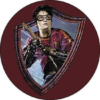 Harry Potter Badge Button Quidditch Gryffindor Broom Firebolt Nimbus 2000 Party