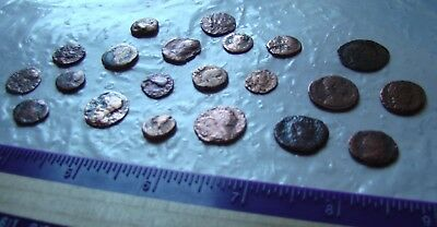 LOT ancient ROMAN EMPIRE coins, poor / junk quality !!
