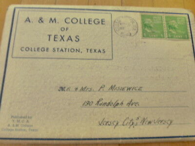 Vintage 1943s A&M College Texas Postcards Souvenir Folder