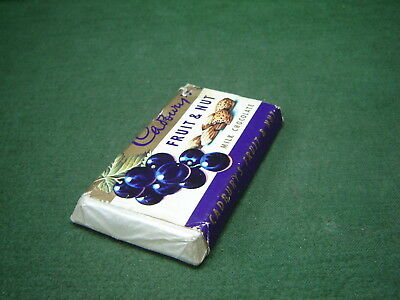 Vintage 1960s Cadbury's Fruit & Nut Milk Chocolate Dummy Shop Display Bar A7713