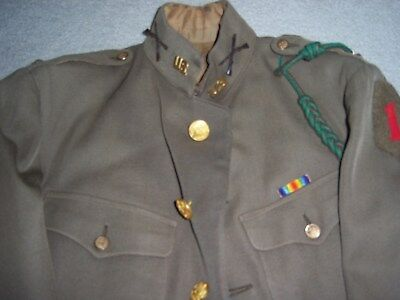 AEF 1st Division infantry Officer's Coat - w/postwar buttons - German-made patch