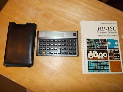 Vintage Hewlitt- Packard HP-16C 1982 Scientific Calculator