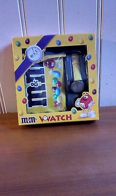 M&M's Watch Set With M&M's From 2000 New And Sealed