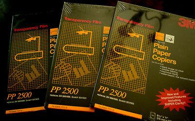 3M  PP2500 TRANSPARENCY FILM for Plain Paper Copiers  NEW Factory Sealed Packs