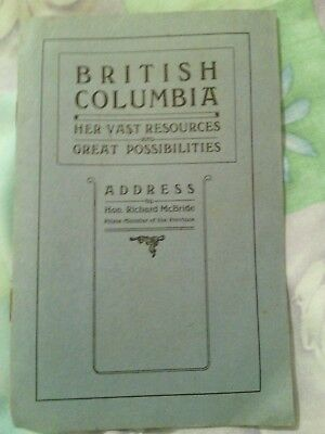 British Columbia by Prime Minister of the province 1910