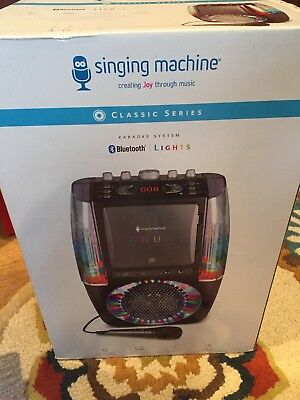 KARAOKE MACHINE SYSTEM Microphone Bluetooth CD/G Audio Singing TFT Display