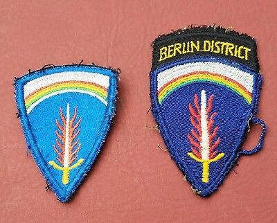 US WW2 WWII Berlin District Patch RARE Find   cut patches original