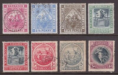 small group of old Barbados stamps 1897-1920